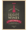 Wine banner vector image