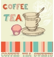 coffee tea menu vector image vector image