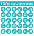 Ecological icons collection vector image
