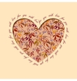 Autumn grapevine heart design Floral love card vector image