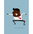 Excited or angry businessman shouting vector image