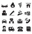 insurance icons symbol set3 vector image