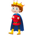 prince in red and blue costume vector image