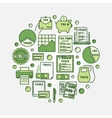 Tax round green vector image