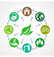 green ecology concept vector image