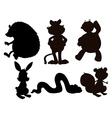 Cartoon Animals Silhouette vector image vector image