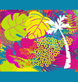 tropical summer jungle plant leaf abstract art vector image