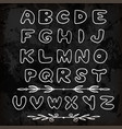 cute hand drawn alphabet made in abc objects for vector image