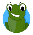 green frog icon app vector image
