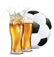 Beer and Soccer Ball3 vector image vector image