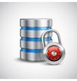 Safe storage concept vector image vector image