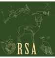 RSA landmarks Retro styled image vector image