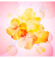 hibiscus flowers background vector image