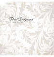 Floral Background in Neutral Tones vector image