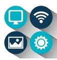 Social media and digital marketing vector image
