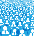 Abstract crowd vector image vector image