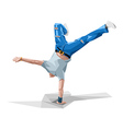 breakdancing vector image