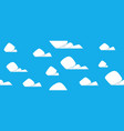 cartoon clouds pattern vector image