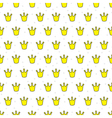 Little crowns pattern vector image