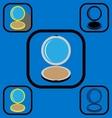 Powder box icons set vector image