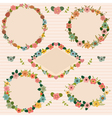 Set of floral romantic frames Floral frames vector image