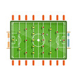 table football flat design isolated on white vector image