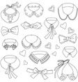 Set of fashion collars and bows bow ties accesso vector image vector image