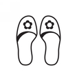 Home slippers icon vector image