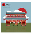 asakusa sensoji japan landmark vector image