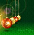 Christmas hanging ball vector image