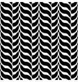 Design monochrome interlaced pattern vector image