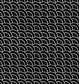 Geometric striped black seamless pattern with vector image