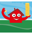 house with money and key vector image