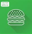 burger fast food icon business concept hamburger vector image