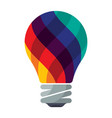 colorful bulb icons vector image