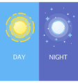 Day and night flat or banners vector image
