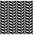 Design monochrome interlaced pattern vector image
