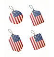 flag usa labels vector image