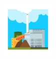 Gravel Factory With Ramp vector image