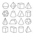 isometric geometric figures vector image