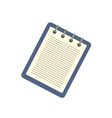 Notebook with a spring icon vector image