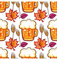 oktoberfest beer seamless pattern cartoon beer vector image