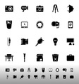 Photography related item iconscon white background vector image