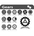 set of gears vector image