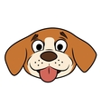 Smiling little puppy head vector image