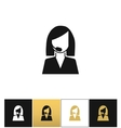 Support woman avatar icon vector image