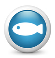 Fish glossy icon vector image