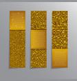 golden sequins banners card brochure probe vector image
