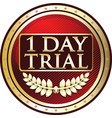 one day trial vector image