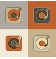 Retro record player icons vector image vector image